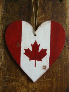 Felt Owl Christmas Ornament  Canada Flag Owl  by ynelcas 1200