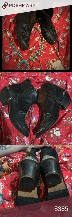 SALE Spell & the Gypsy ORIGINAL Cactus Rose Boots I have an OBSCENE boot addiction- these have been worn maybe a handful of times! haven't been worn in AGES bc I have more boots than I'll ever admit 🙄 hope someone's 🦄💦 GREAT condition- distress wear is on backs/ heels- def made that way bc front tread looks almost new and my Cactus Rose boots had same wear in 1 day  SIZING- IMO 7.5-8.5!! Sugar Skull I'm a 38. I am a 7.5/ 8 for width- sadly found on the Mimi Boots back then I had to size…