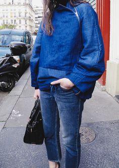 The Blab   Acne Studios jeans   Carin Wester jacket Equipment jumper   Yvonne Koné pumps