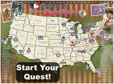 Is there an #MLB fanatic in your family? Help them start the quest to track their travels to every stadium with our Officially Licensed MLB Map!
