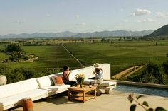 Lapostolle Winery - overlooking the vineyards. #Colchagua #Chile