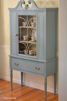 BEFORE & AFTER: My Thrifted China Cabinet Makeover - Thrift Diving Blog : Thrift Diving Blog