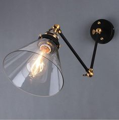 Wholesale Retro Two Swing Arm Wall Lamp Sconces Glass Shade Baking Finish RH Restoration Light Fixture,Wall Mount Swing Arm Lamps from China :$77.01 | DHgate.com