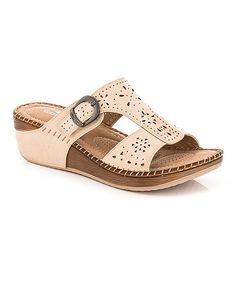 ad9a4f69bc34 Lady Godiva Beige Buckle Sandal