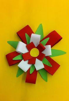 Játékos tanulás és kreativitás: Nemzeti színű virág