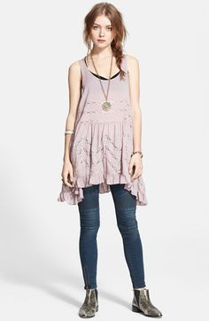 Free People Lace Trim Trapeze Slipdress available at #Nordstrom