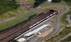 The British end of the Channel tunnel.