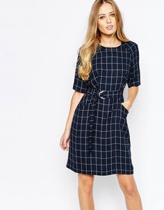 Image 1 ofWhistles 60's Shift Dress in Window Pane Check