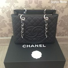 Chanel GST with Silver Hardware and Caviar Leather