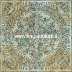 NAXOS panel on marble botticino etched by AKROS. Tiles on marble decorated. Luxury home decor.