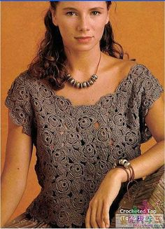 crochet roses patterns for fashion -