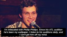 oooh that smile.. Love Phil!