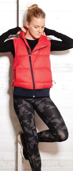GIVE & GET promo on now! | Call Her Vest + KC Tights = winning combo this winter!