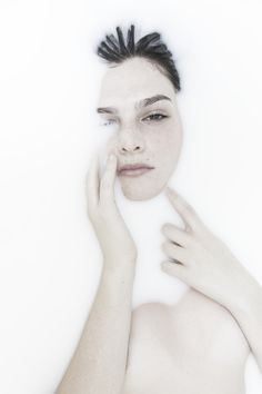 Andrew T. White Photographer - Milk Bathtub Shoot featured in Minimalissimo Magazine, Model Natasza Wasilewski
