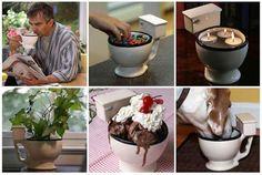 tazza per bevande e gelato a forma di water