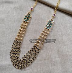 Gold Jewellery Design, Gold Jewelry, Beaded Jewelry, Beaded Necklace, Indian Jewelry, Ornaments, Beads, Beaded Collar, Beading