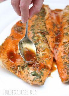 Orange teriyaki salmon- wow, this sounds amazing! #salmon #healthy #orange