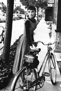 """onlyoldphotography: """" Mark Shaw : Audrey Hepburn on the set of Sabrina, 1953. """""""