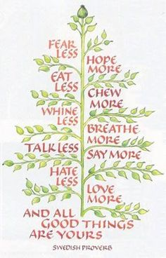 Wouldn't this Swedish proverb look great on a throw pillow! I think i may have found my new holiday project!