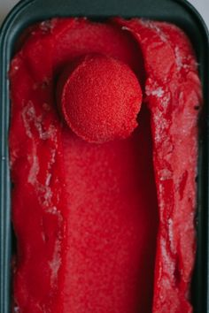 A refreshing and summery Strawberry Thai Basil Sorbet from the My Darling Lemon…