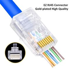 10 x High-quality Silver Plated Cat6 Crystals RJ45 Network Cable Connector BB