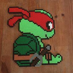 TMNT Raphael hama beads by PysselNabon
