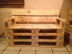 Pallets banca para 2 – Pallets bench | 1001 Pallets
