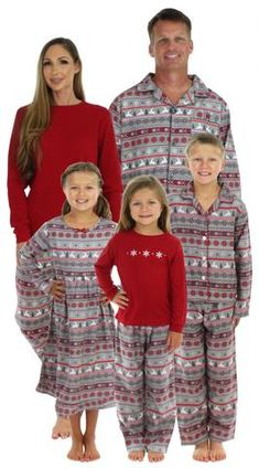 Inverlee Men Daddy Tops Blouse Pants Family Pajamas Sleepwear Christmas Set