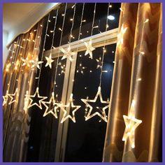 Christmas Decorations for Home Christmas Lights Outdoor Led String Warm White Adornos Navidad Natal Decoracion Kerst 12 Lamp.W
