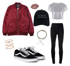"""""""кэжуал"""" by kolosovskaya ❤ liked on Polyvore featuring Stussy, J Brand, Related, Nasaseasons and Accessorize"""