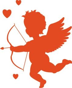 Cupid, draw back your bow And let your arrow go Straight to – my lover's heart!(nobody but me)… ~Cupid, Sam Cooke Looks like Cupid can set down his bow Silhouette Clip Art, Silhouette Images, Silhouette Cameo Projects, Silhouette Machine, Free Vector Images, Vector Art, Eps Vector, Cupid Images, Medical Illustration