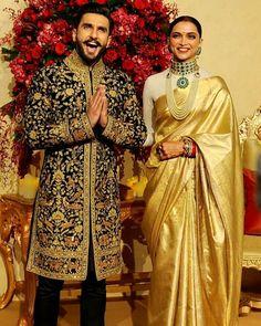 12 Stunning Photographs of Ranveer Singh and Deepika Padukone - Wedding Reception - Mehndi Design Indian Wedding Gowns, Wedding Dress Men, Wedding Suits, Indian Bridal, Wedding Men, Deepika Ranveer, Deepika Padukone Style, Ranveer Singh, Bollywood Couples