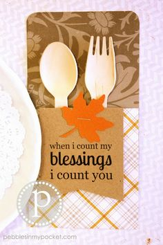 Fall Utensil Pockets for your Thanksgiving table. Come as a Kit or Pre-made. Start a new table tradition!