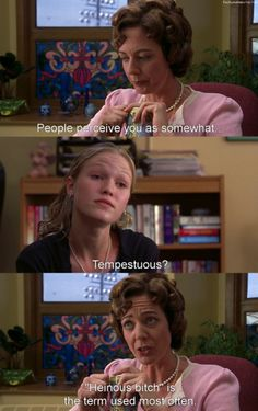 10 things I hate about you. The fact that Kat smiles afterwards makes it better.