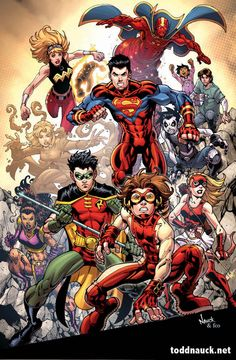 Young Justice by Todd Nauck // My superhero team. I absolutely loved all the characters. Superboy and Robin are my favorites, but the girls are so awesome.