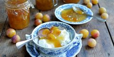 Karen Burns-Booth's Mirabelle plum jam recipe makes a delightful preserve as it is, but she also recommends a way to use vanilla in your recipe. Blackberry Jam Recipes, Plum Jam Recipes, Fruit Recipes, Xmas Recipes, Yummy Recipes, Can Dogs Eat Oranges, Great British Chefs, Fruit Preserves, Breakfast