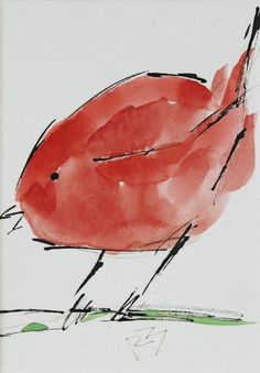 For Sale: Watercolor birds by Richard McKey Beginning Watercolor, Kids Watercolor, Watercolor Projects, Watercolor Flowers, Watercolor Landscape, Watercolor Paintings For Beginners, Watercolor Portraits, Nature Sketch, Bird Drawings