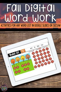 Teaching remotely? Missing your hands-on word work center this fall? This digital work word center set includes seven interactive word work activities for any word list in Google Slides or Seesaw with moveable letter pieces. Use them again and again with any spelling or high-frequency word list. Just click to type in your own word list! These fun activities are ideal for first grade or 2nd grade students!