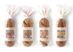 Embalagem minimalista de pão.