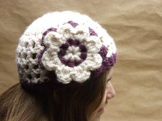 Sale ready to ship Hand Crocheted Womens Hat With by WillowPrairie, $20.40