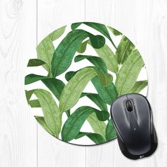 Leaves mousepad // Mouse Pad Mousepad Banana Leaf Gift for Coworker Gift by fieldtrip #etsy