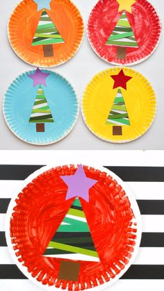 plate Christmas tree craft for preschooler, kindergartners and older kids. Easy paper strip Christmas tree decoration to make in the classroom. christmascraftPaper plate Christmas tree craft for preschooler, kindergartners and older kids. Preschool Christmas Crafts, Classroom Crafts, Halloween Crafts, Christmas Activities For Preschoolers, Christmas Crafts For Kids To Make At School, Childrens Christmas Crafts, Fun Activities, Christmas Tree Decorations To Make, Christmas Tree Crafts