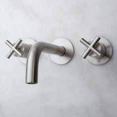 Exira Wall-Mount Bathroom Faucet with Cross Handles • $179.95