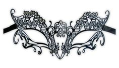 Masque en métal en filigrane 'Vanda'