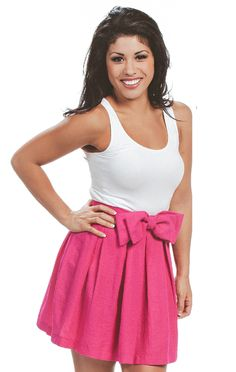 Revelry Charlotte Skirt in pink from our Sweet Tea Collection. Mix and Match styles starting from $39 for group orders. We specialize in group orders - large or small - for sorority recruitment and bridesmaids. Order a sample box and try on at home! Find out more by visit www.shoprevelry.com!
