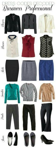 Work fashion idea's