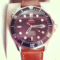 Omega Seamaster Professional 300M Co-Axial with Shell Cordovan Leather Strap