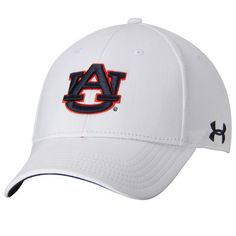 bf1159ea9 Auburn Tigers Under Armour Sideline Renegade Solid Structured Flex Hat -  White