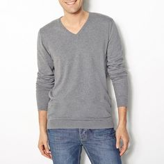 Pull col V, manches longues R edition SHOPPING PRIX