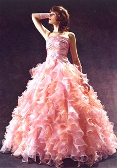 Frilly Pink Dress | ... , the pink adds a little something, something....prom dress maybe